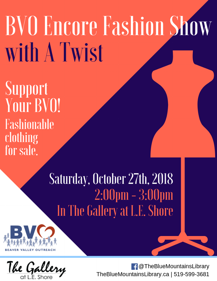 BVO Encore Fashion Show with a Twist