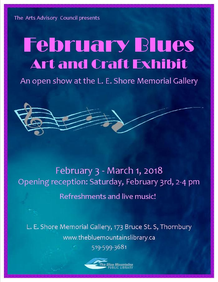 FEBRUARY BLUES Art and Craft Exhibit