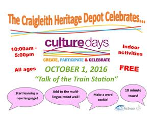 Culture Days at the Craigleith Heritage Depot