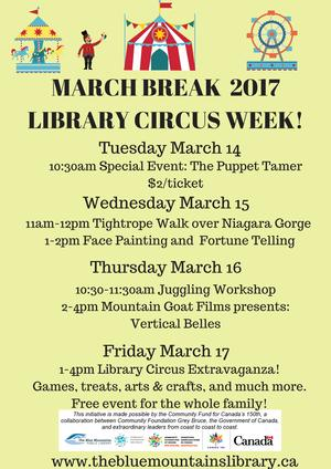 March Break Circus at the L.E. Shore Library
