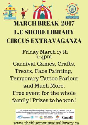 Friday March 14 is March Break Library Circus Day!