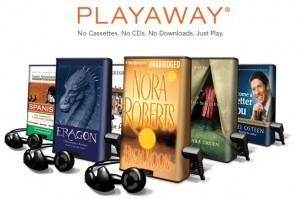 We now carry Playaway, all-in-one audio books!