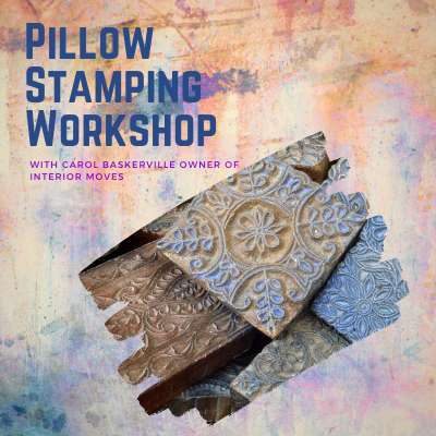 Fusion Mineral Paint Throw Pillow Stamping Workshop
