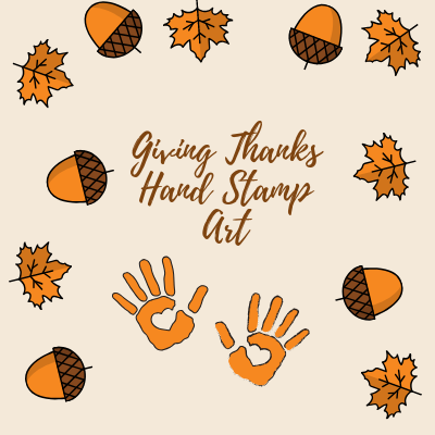 Giving Thanks Hand Stamp Art