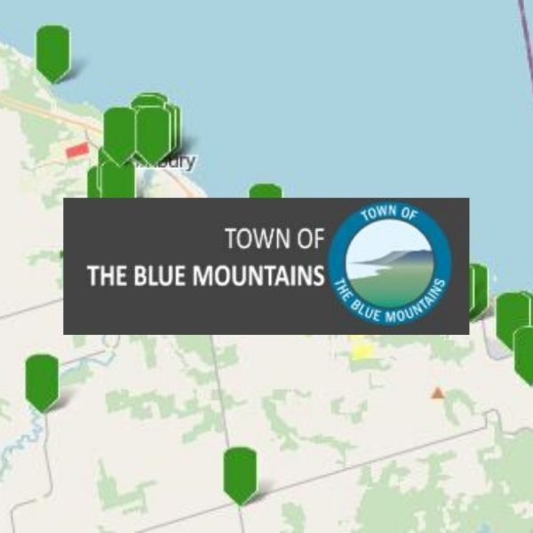 Town of The Blue Mountains Covid-19 Interactive Map